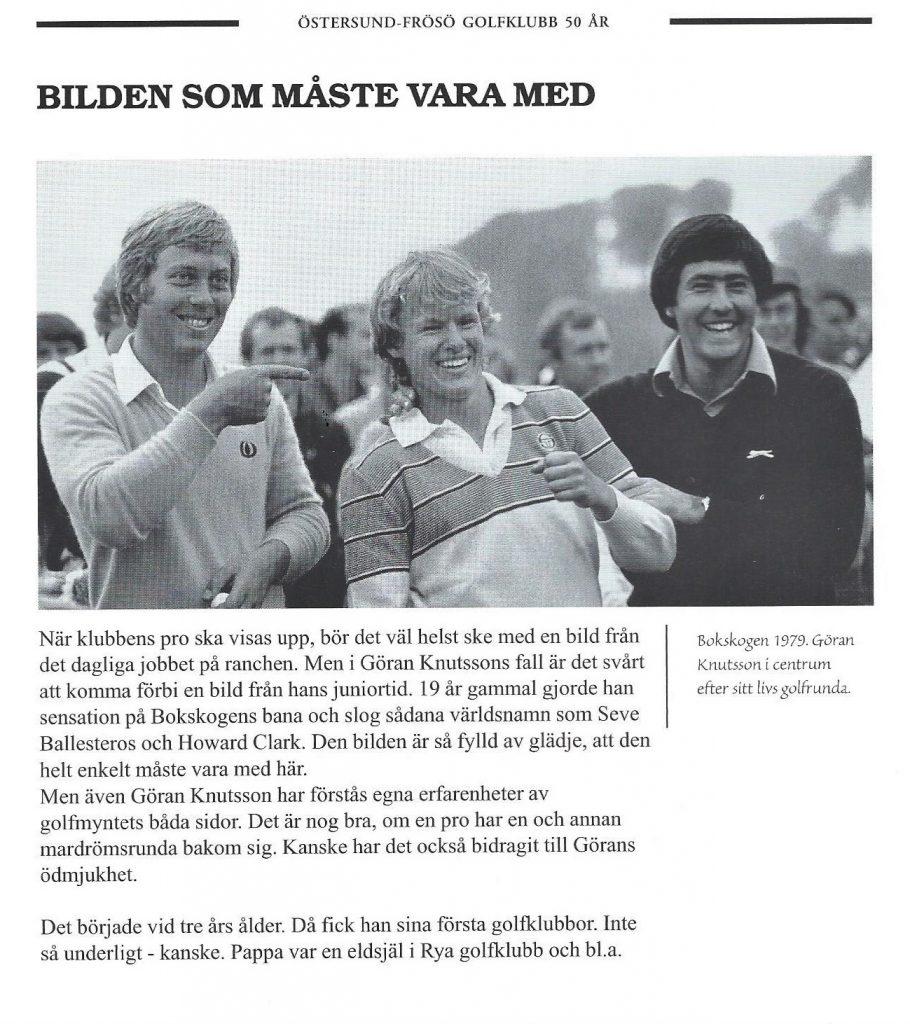Göran Knutsson Östersund-Frösö GK Historia