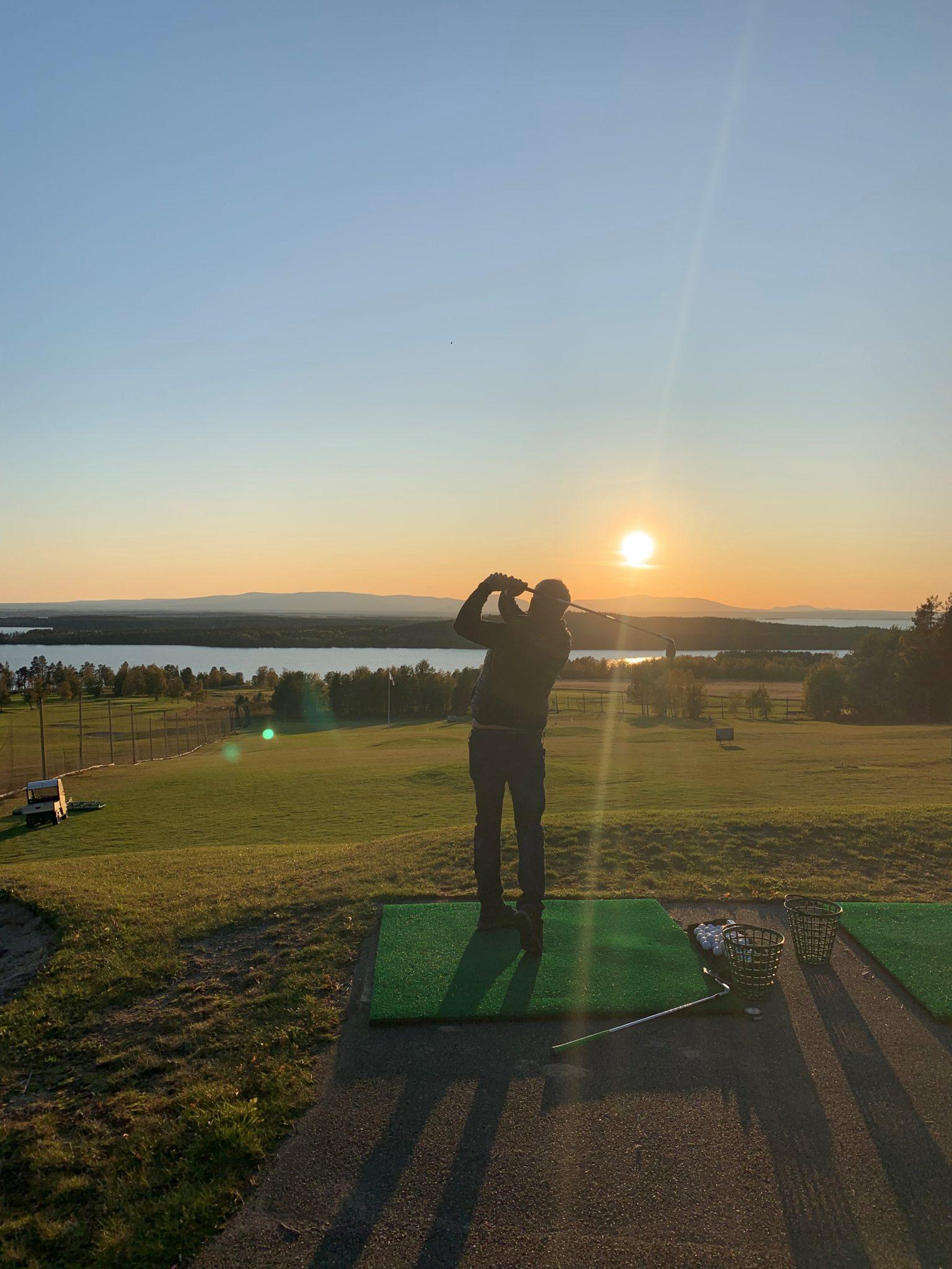 Golfsving på rangen - Östersund-Frösö GK